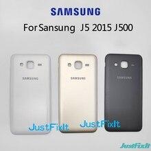Para samsung galaxy j5 2015 j500 j500f j500h j500fn voltar bateria porta capa de vidro traseiro habitação caso substituir a bateria capa