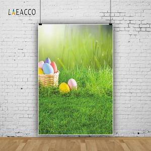 Image 3 - Laeacco Easter Eggs Basket Grassland Spring Baby Birthday Party Photography Backgrounds Photographic Backdrops For Photo Studio
