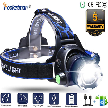XML-L2 XM-L T6 Led Headlamp Zoomable Headlight Head Torch Motion Sensor Head Torch Head lamp  Power by 18650 battery for hiking sitemap 19 xml