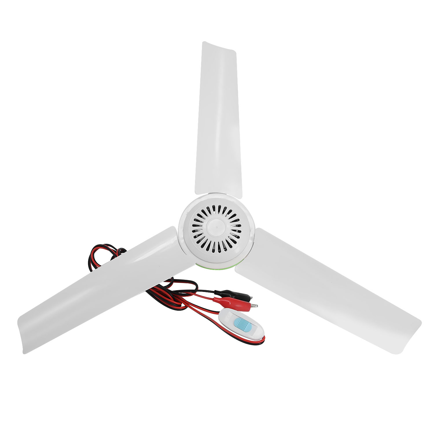 Portable Ceiling Fan 3 Blades Hanging Outdoor 6W For Solar Power Caravan Camping Easy Hang