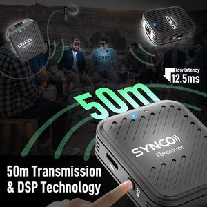 Image 5 - Беспроводной петличный микрофон SYNCO G1 G1A1 G1A2, передатчик для смартфонов, ноутбуков, DSLR, планшетов, видеокамер, рекордер pk comica