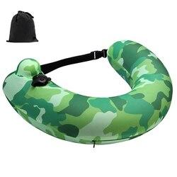 Надувное надувное кольцо для плавания, портативный поплавок для бассейна, подушка для шеи для путешествий для детей и взрослых