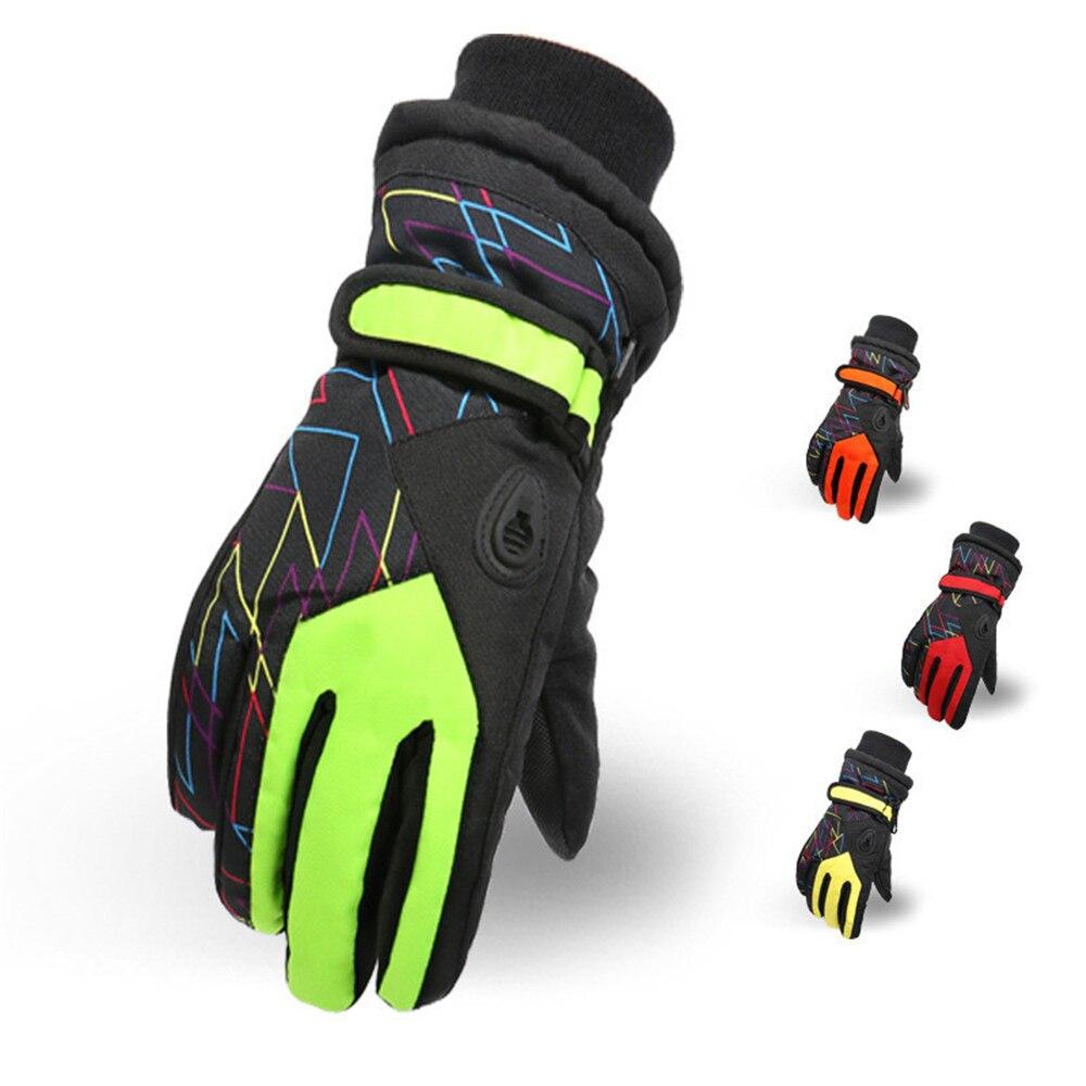 Children Winter Snowmobile Ski Gloves Windproof Lovely Boy And Girls Gloves Kids Girls Waterproof Skiing Snowboarding Gloves
