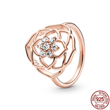 Hot Sale New Product 100% 925 Sterling Silver Rings Clear CZ Circle Round Lucky Rings For Women Birthday Fashion Jewelry Gift