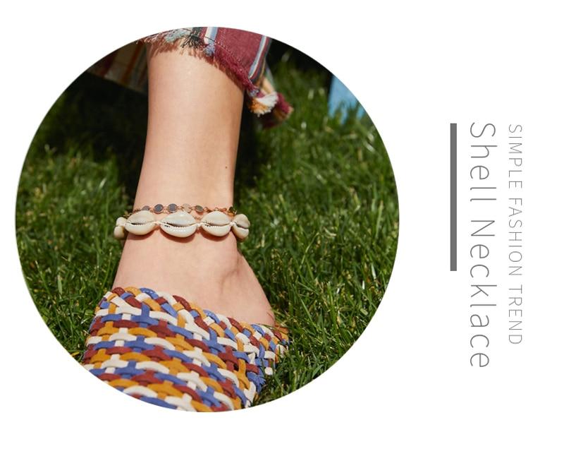 Shells Bracelets Fashion Accessories Handmade Beaded Strand Adjustable Rope Chain Seashell Hand Knit Bangles Women Girls Jewelry