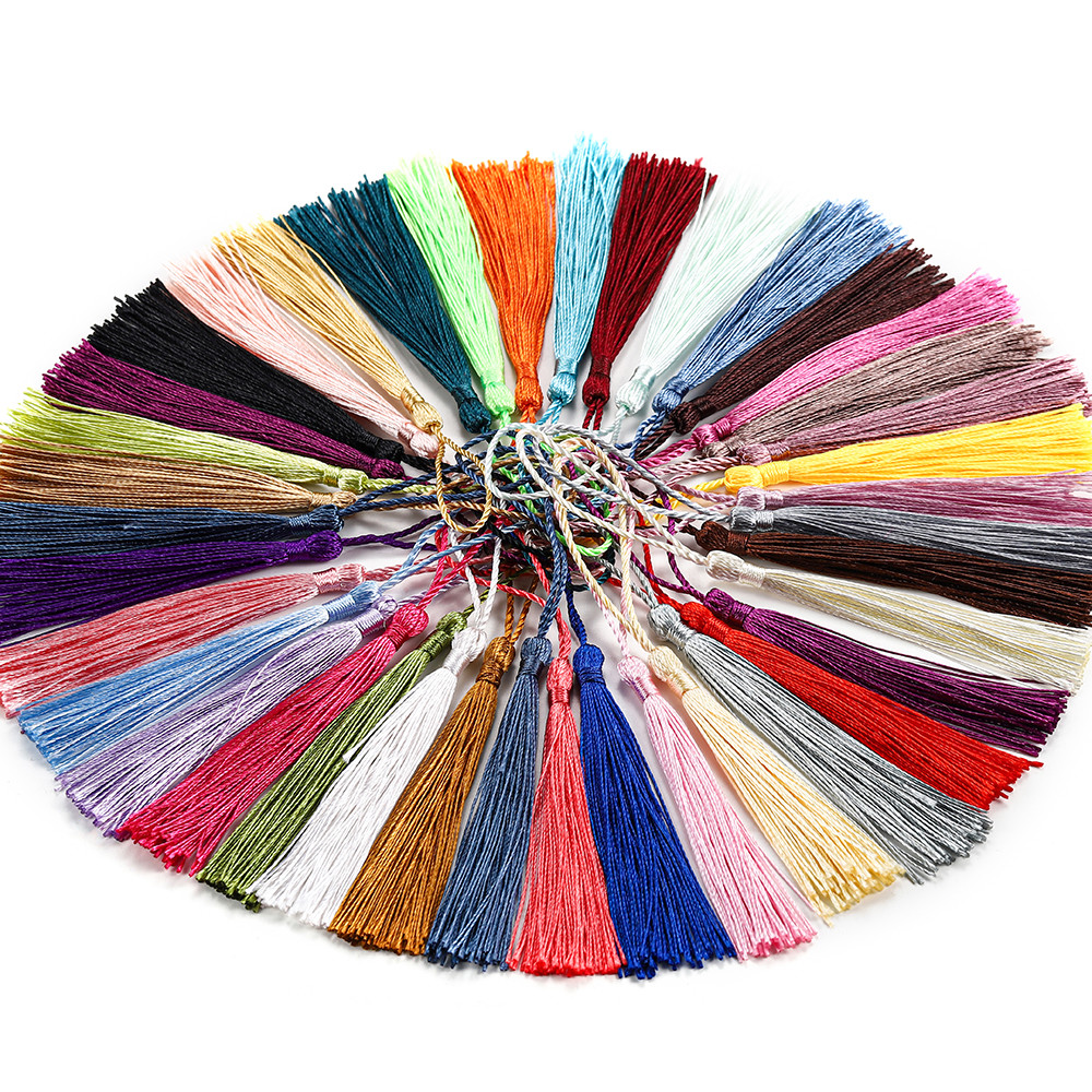 50pcs/lot Low Price Hanging Rope 70mm Silk Tassel for Diy Earrings Necklaces Jewelry Long Fringe Pendant Finding Accessories