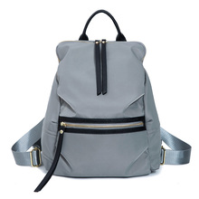 Women casual backpack oxford durable shoulders bag light blue black travel or school carrying bag durable casual canvas laptop backpack blue color shoulders bag 9023k