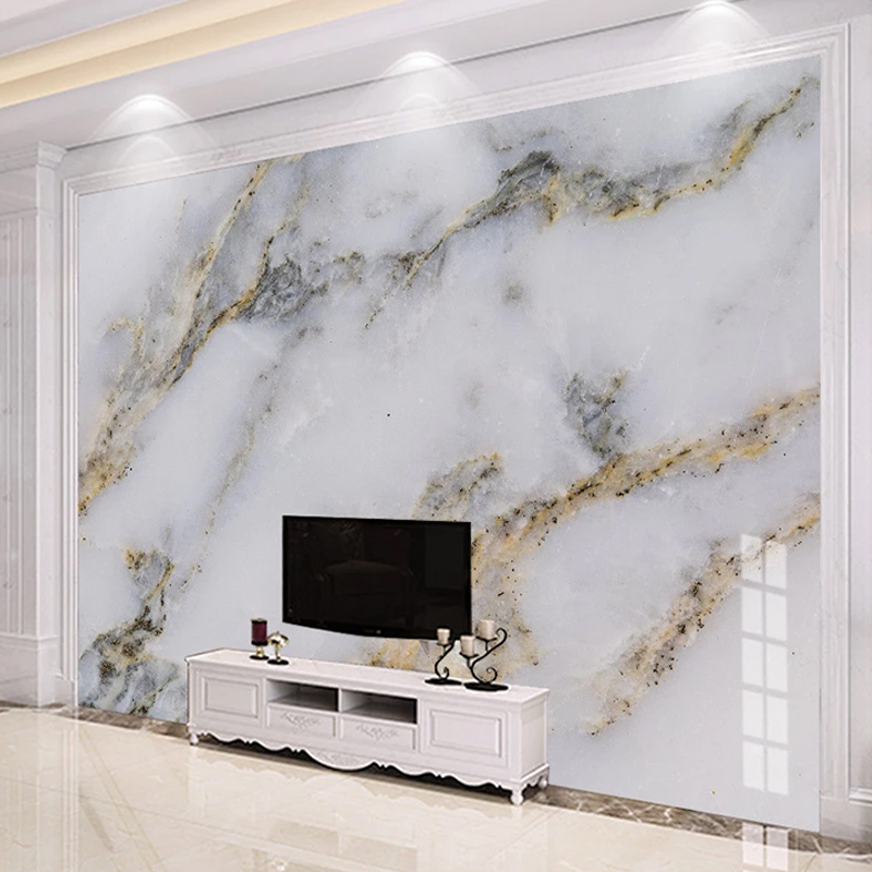 US $8.31 53% OFF|Photo Wallpaper Modern Simple Golden Luxury Murals Marble  Wall Painting Living Room TV Bedroom Home Decor Wall Covering Frescoes on  ...