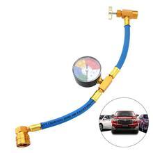 practical r134a to r12 r22 refrigerant recharge hose pipe 100PSI R134A Car Air Conditioning Refrigerant Recharge Measuring Kit Hose Gas Gauge Auto Refrigerant Hose