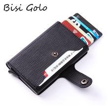 Bisi goro 2020 rfid держатель для карт с застежкой плетеный