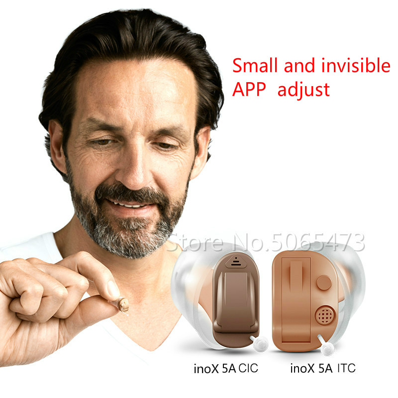 Siemens REXTON 8 Channels Digital Invisible CIC Hearing Aid InoX 5A CIC/inoX 5A ITC Signia Smartphone APP Fit Dry Case  Manual