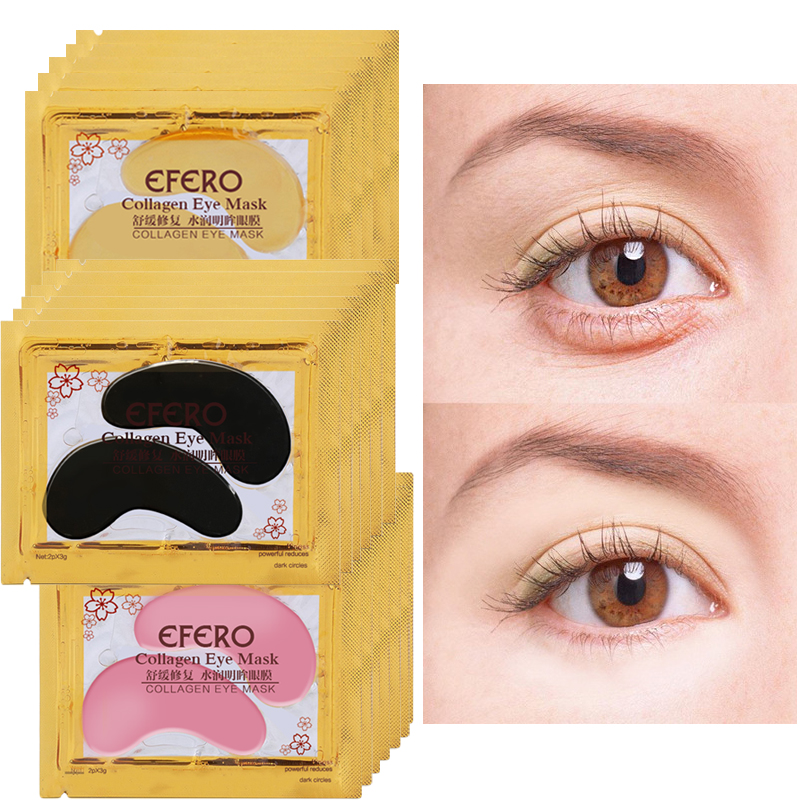 8/10/15Pair Collagen Crystal Eye Mask Gel Patches for Eyes Care Face Mask Eye Patch Remove Dark Circles Anti-Wrinkle Eye Pads(China)
