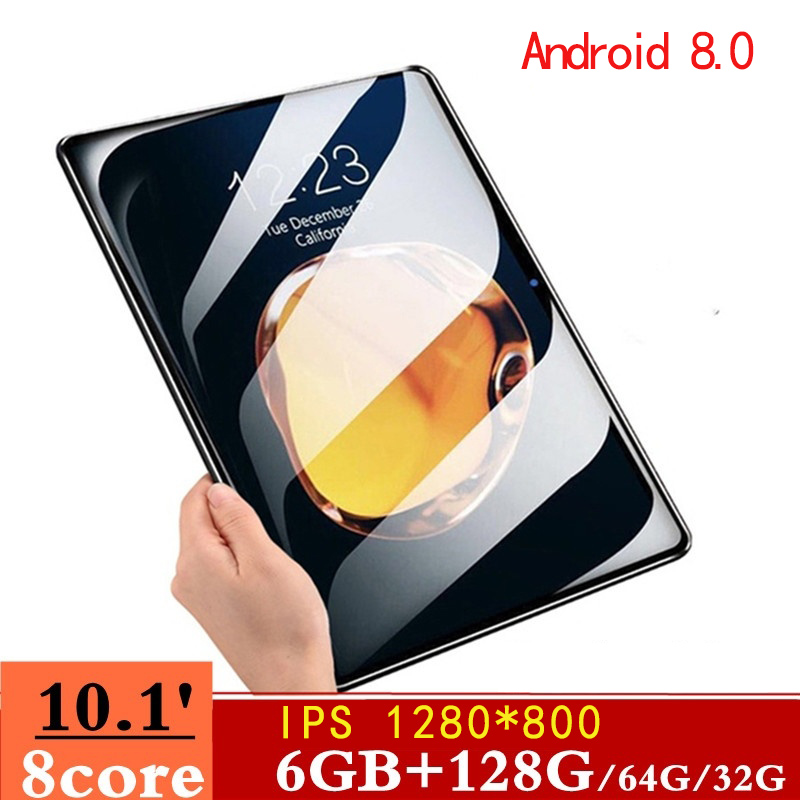 2.5 D Screen Metal 10.1 Inch Android 8.0 IPS1280x800Tablet PC Octa Core RAM 6GB+ROM 128G/64G/16G WiFi Bluetooth GPS