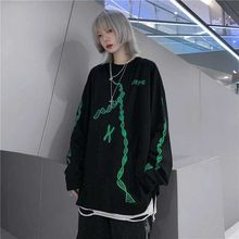 NiceMix Harajuku style streetwear letters print loose hip hop hoody Autumn long sleeve pullovers Sweatshirt women men clothing(China)