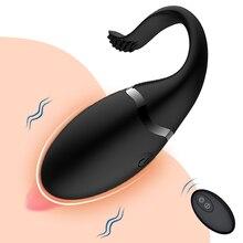 Vibradores para clítoris estimulador de Vagina para mujer, punto G, Control remoto, huevo de amor, fuertes vibraciones, juguete sexual para adultos