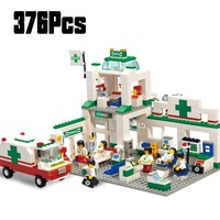 5600 376 шт. модели строительных комплектов совместимы с Legoinglys городские больницы 3D блоки Обучающие модели и строительные игрушки хобби