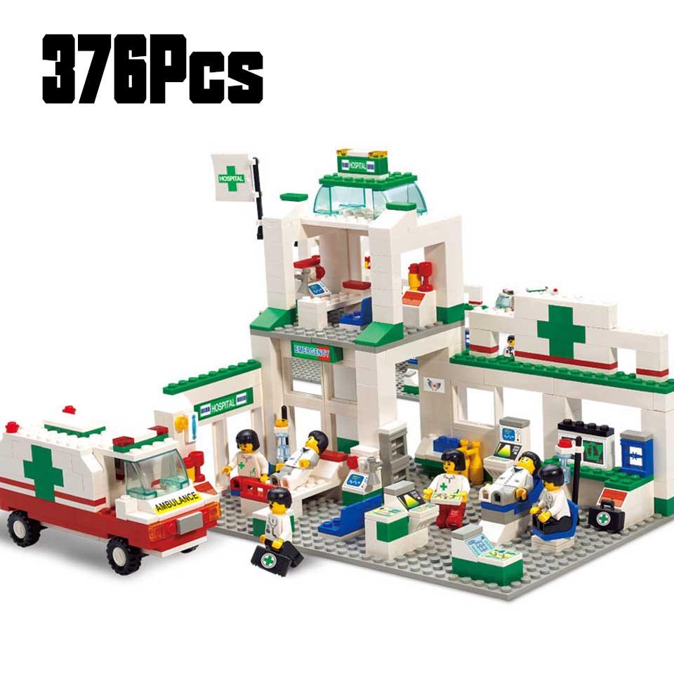 5600 376 PCS Model Building Kits Compatible With Legoinglys City Hospitals 3D Blocks Educational Model & Building Toys Hobbies