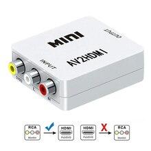RCA Composite CVBS AV to HDMI Video Converter HD 1080P AV2HDMI Box Adapter for TV PS3