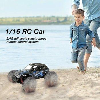 цена на 9137 1:16 RC Car 4WD Brushed Motors Driving Desert Truck Drive Bigfoot Remote Control Car Model Off-Road Vehicle Toy