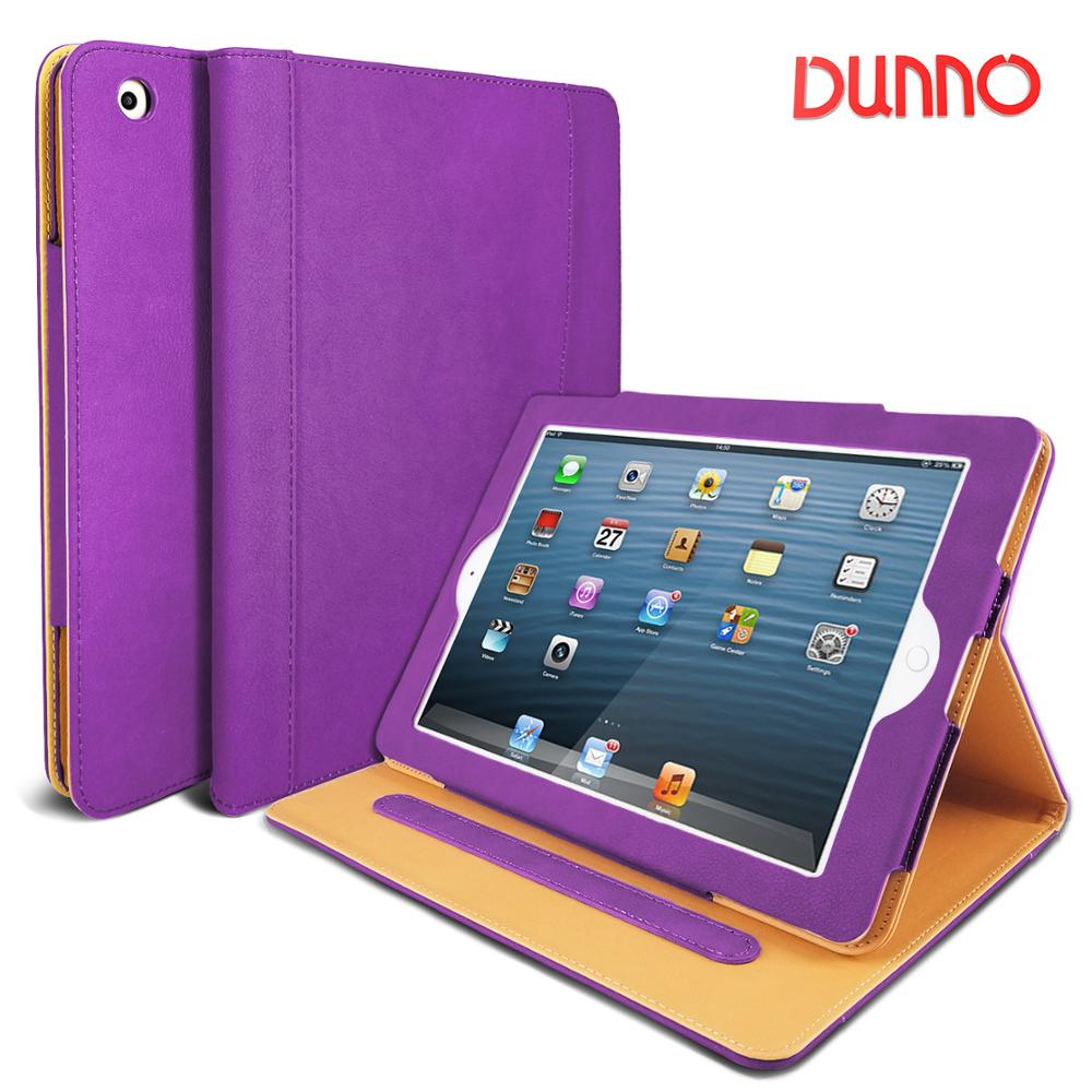 DUNNO Case For IPad 2 3 4, Premium Leather Folio Case, Multi-Angle Viewing Stand, Smart Cover With Auto Sleep/Wake Feature