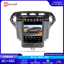 Tesla style Tesla screen For Ford Mondeo 4 2006 2007 2008 2009 2010 Android Car Radio Multimedia Video Player Navigation GPS