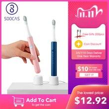 SOOCAS SO WHITE EX3 sonic Spazzolino Da Denti Elettrico per Xiaomi Norma Mijia Ultra sonic Spazzolino Da Denti Automatico Ricaricabile Impermeabile di Pulizia