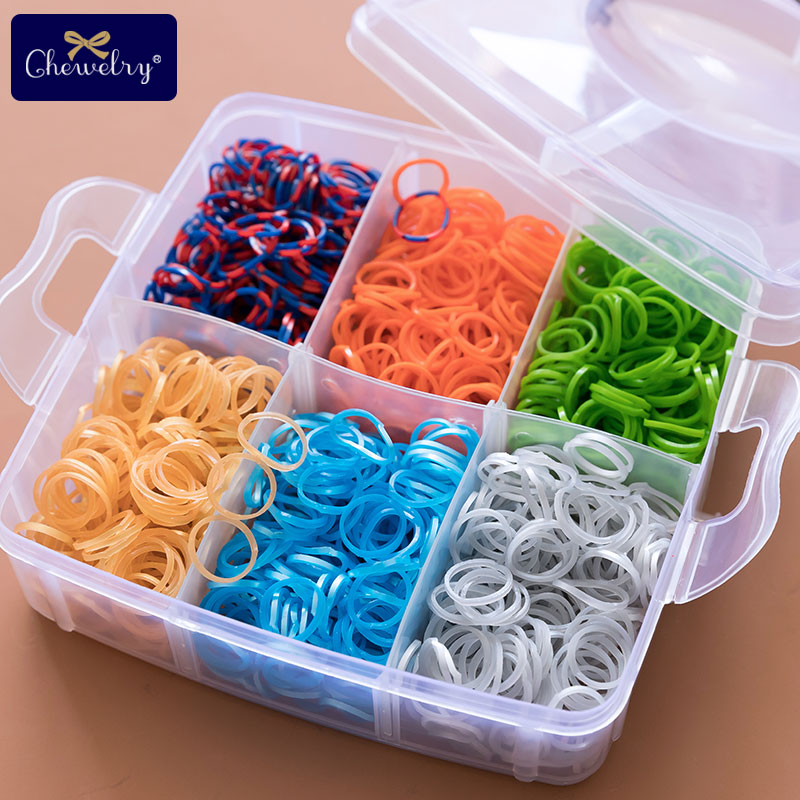1800pc DIY Toys Rubber Loom Bands Set Kid Bracelet Silicone Elastic Rainbow Weave Toy Children Goods