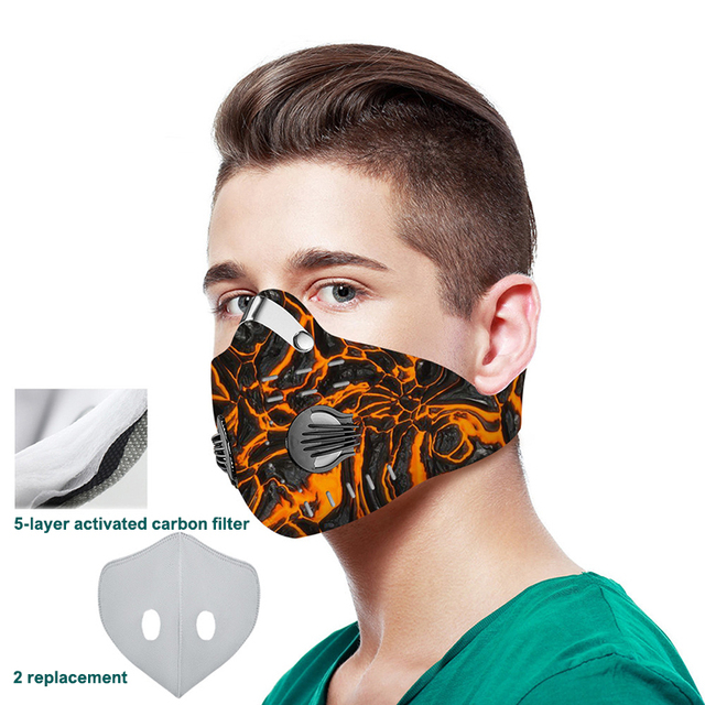 3D printing Mouth-muffle Face Mask Breathing Anti-dust PM 2.5 Dustproof Mask With Activated Carbon Filter Reusable Mouth Mask