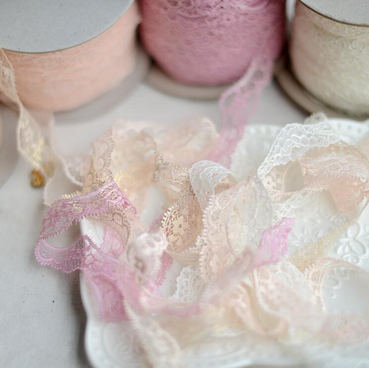 Оптовая продажа, 10 метров, 2,3 см, красивая розовая кружевная отделка цвета слоновой кости, полиэфирная кружевная ткань для одежды, сделай сам, ремесло, горячая Распродажа 2019 lace fabric lace fabrics for salelace fabric sales   АлиЭкспресс