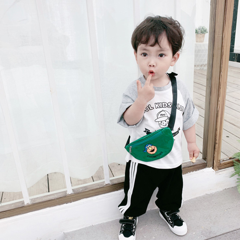 Children Waist Packs Fashion Leisure Small Chest Crossbody Bag  Boy Girl Fanny Pack PU Cartoon Mini Belt Bags Waist Bag Purse