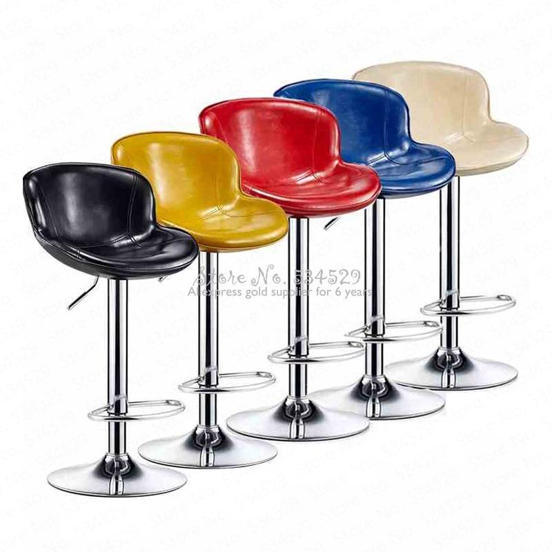 30%B Bar Chair Rotating Chair Modern Minimalist Bar Chair Bar Stool Back Bar Stool High Stool Front Desk Chair Home