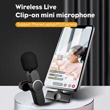 Lavalier-Micrófono inalámbrico para teléfono móvil, conexión Bluetooth, interfaz tipo c, envío rápido