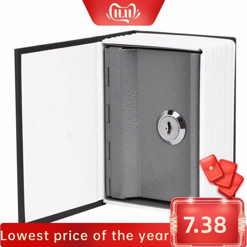 Mini Simulation Book Safe Storage Box Money Cash Jewelry Security Lock Case with Keys piggy bank pig High Quality