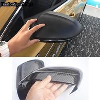 Passat CC Carbon Fiber Car Rearview Mirror Cover Outside Wing Mirror House Trim For Volkswagen CC 2019UP