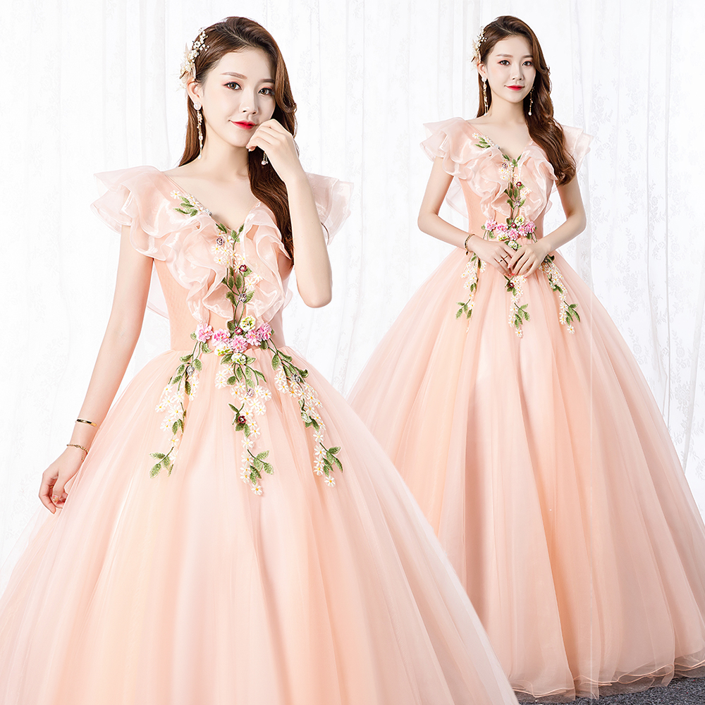 Pink Quinceanera Dresses Elegant Organza Ball Gown See-through Gorgeous Long Prom Gowns 2019 Vestidos De Quinceaneras En Turqusa