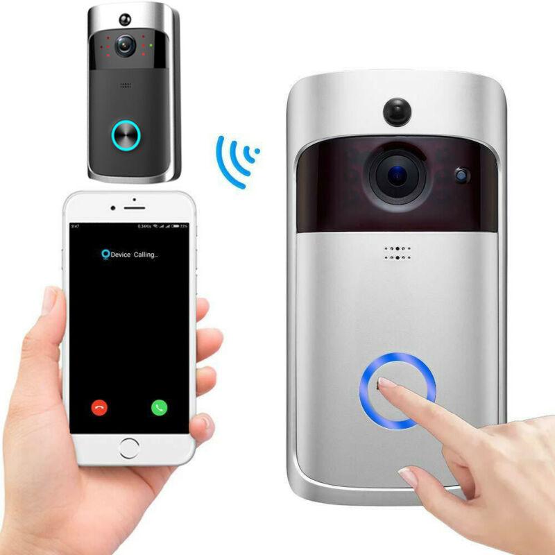 Security Camera Bell Smart Phone Door Ring Wireless WiFi Video Doorbell Intercom