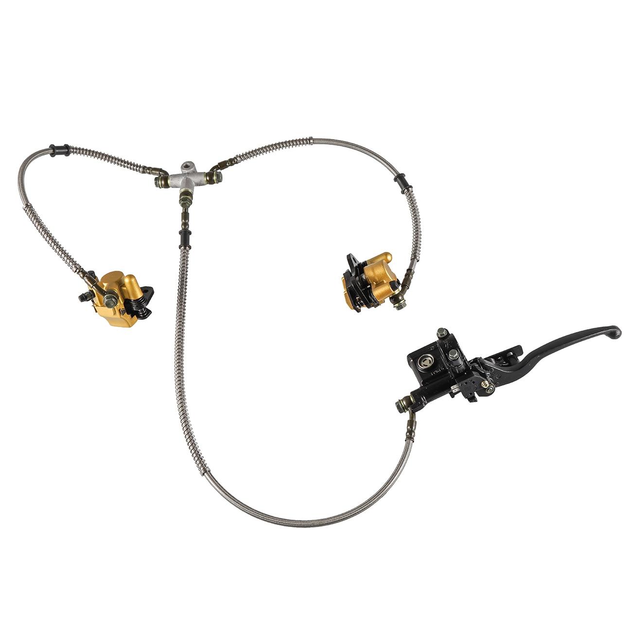 Étriers de frein à disque double hydraulique à Pouvoir et plaquettes 110 125cc Quad Dirt Bike ATV haute Performance