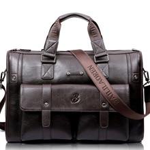 LEINASEN Brand High Capacity Men briefcase Business Messenger Handbags