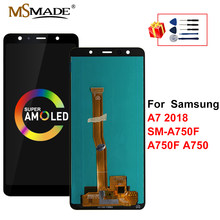 "6.0"" Super AMOLED For Samsung Galaxy A7 2018 Display A750 LCD SM-A750F A750F Display Touch Screen Replace For Samsung A750F LCD(China)"