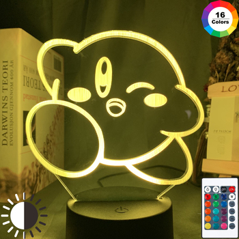 Cute Kirby Baby Night Light Led Touch Sensor Color Changing Nightlight Gift for Kids Child Bedroom Decorative Usb Table 3d Lamp assassins creed altair figure led night light for kids bedroom home decor color changing baby nightlight for child night lamp 3d