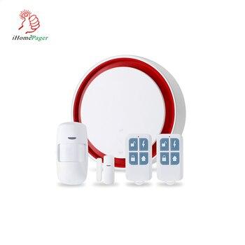 GSM+WIFI alarm system high quality Anti-theft sos wireless TUYA home APP control home sim card home security alarm system 433mHz недорого