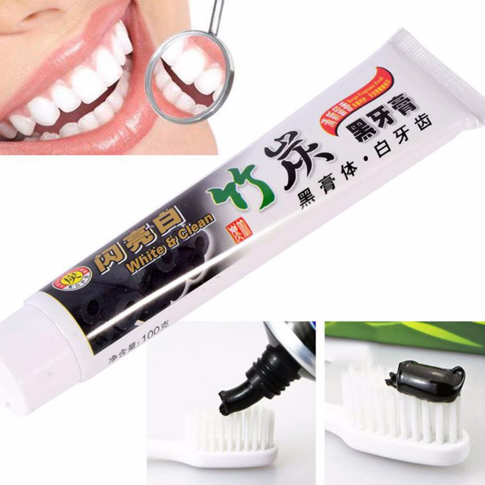 New Teeth Bamboo Charcoal Toothpaste Whitening Teeth Black Remove Stains Insecticidal Whitening Tooth Ointment