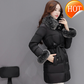 Down Jacket Women's Winter Jacket Women Clothes 2020 Real Fox Fur Collar Warm Parka Coat Female Jacket Plus Size MY3234 image