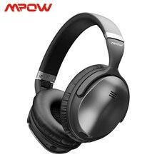 Mpow H5 2nd ANC aktif gürültü kablosuz Bluetooth kulaklık Hi Fi Stereo kulaklık için taşıma çantası ile iphone X Samsung