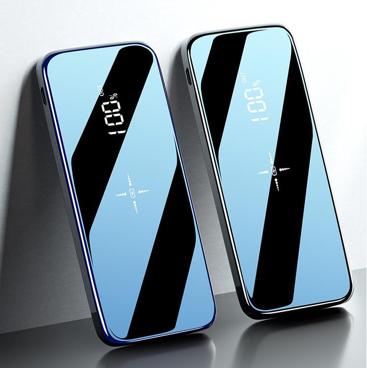 Quick Charge Wireless Power Bank Dual USB Mirror Screen 30000mAh Wireless Charger Powerbank Bateria External For Iphone8 X