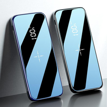 Quick Charge Wireless Power Bank Dual USB Mirror Screen 3000