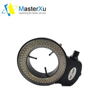 144led ring lamp microscope industrial camera light source  the central spotlight brightness is adjustable