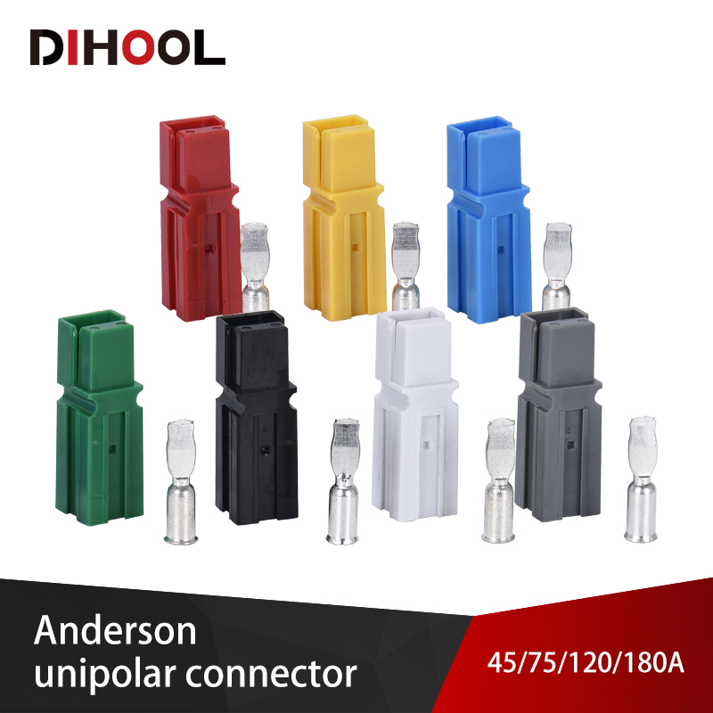 Anderson Power Connectors Unipolar Quick Connector 30A 45A 75A 120A 180A DC Electric Car Battery Plug UPS Connection Terminals
