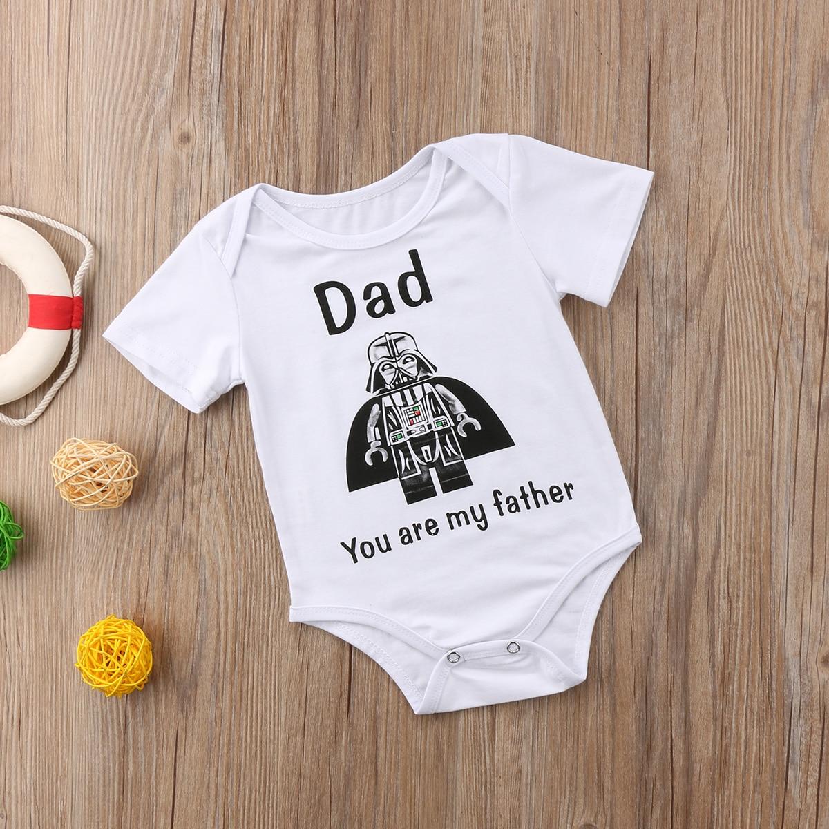 Summer Newborn Infant Toddler Baby Boy Clothes Bodysuits Cartoon Star War Bodysuit Jumpsuit Outfit Clothes