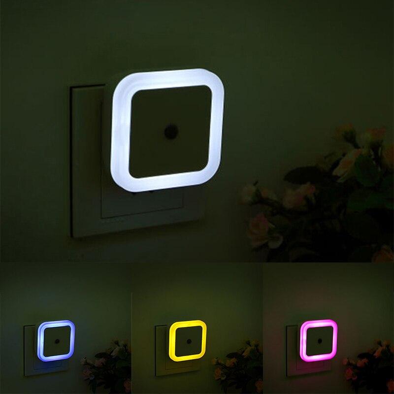 LED Night Light, Mini Light Control Sensor, 110V, 220V, European American Plug, Children Night Light, Living Room, Bedroom